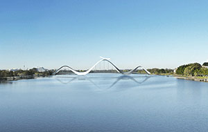 Swan River Pedestrian Bridge work underway
