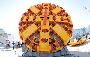 Tunnel boring machine on its way to Melbourne