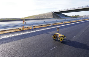Survey robot cuts time and increases safety for line marking