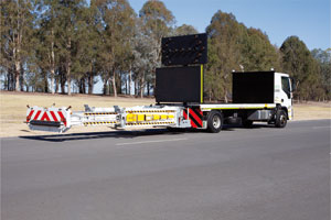 The new Blade Truck Mounted Attenuator is setting the bar for safety on Australia's road worksites, having been tested and approved to the latest MASH standards.