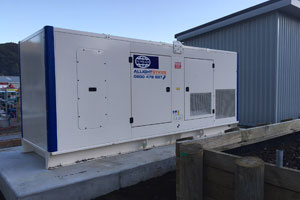 FG Wilson generators powering construction