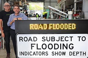 Additional funding for Logan's flooded road smart warning system