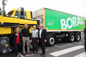 Boral unveils Australia's first forward moving aggregate spreader