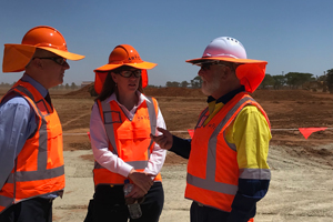 Construction is ramping up on Inland Rail in Central West New South Wales, with the first $20 million steel rail contract from Liberty Steel's Whyalla steelworks successfully delivered.