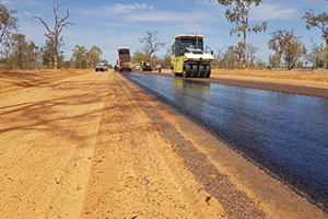 Blackall-Jericho pave and seal project underway