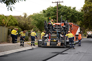 Crumbed rubber asphalt trial