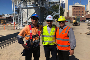 Australia's first Simem Concrete batching plant
