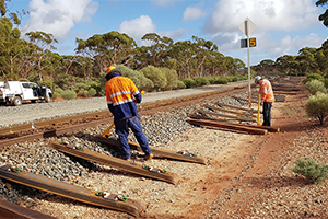 Australia first steel sleeper trial underway
