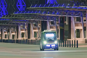 Driverless vehicles communicate with Sydney traffic
