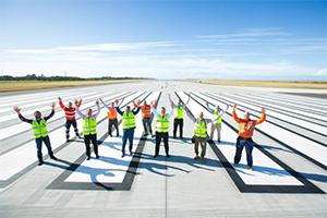 Construction complete on Brisbane Airport runway