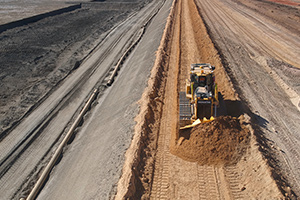 Komatsu iMC dozers and drone technology help RHT Contracting revolutionise tailings dam construction
