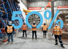Tunnel Boring Machines reach halfway mark on Melbourne Metro Tunnel