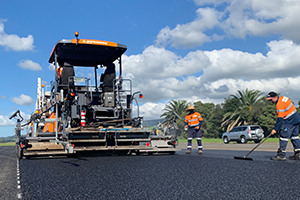 Peak paving performance with Dynapac at Shellharbour Airport