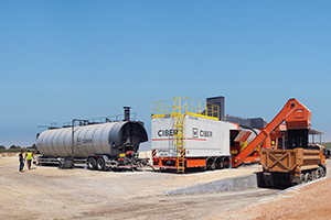 Handling modified asphalt and the effect of ageing bitumen, with CIBER