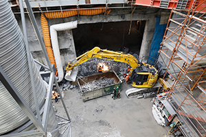 Metro Tunnel eastern entrance at South Yarra completed five months early
