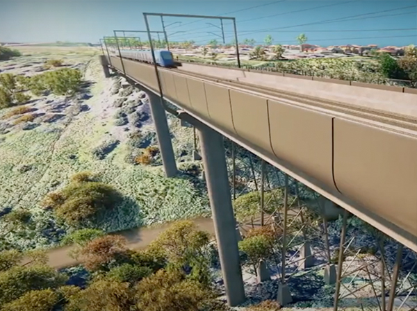 First look of Melbourne Airport Rail released for the public
