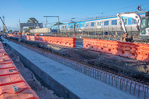 Nine-day excavation project begins on the Craigieburn Line in VIC