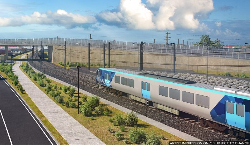 Designs released for Cranbourne line level crossing removal