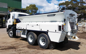 Live bottom patching unit an asset for Melbourne road maintenance