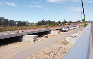 National Precast member Hanson Precast is supplying integral precast concrete components to the final stage of the high priority Schofields Road extension in NSW.
