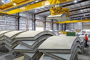 Precast concrete segments will be used in Sydney's new metro rail as a mega concrete factory begins full production mode in Marrickville.