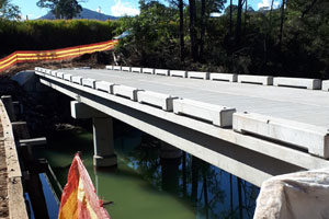 The benefits of precast is being realised on two timber bridge replacement projects for Kempsey Shire Council in New South Wales.