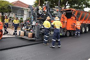 Around 850 used tyres have been recycled to pave a 335 metre stretch of road as part of a crumbed rubber asphalt trial in the City of Mitcham, South Australia.
