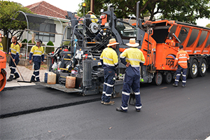 City of Mitcham begins testing new crumbed rubber asphalt mix