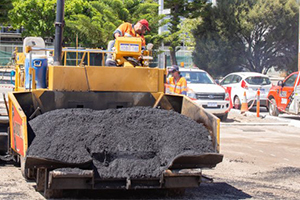 Recycled glass used in Fremantle asphalt resurfacing