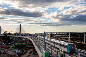 Sydney's skytrain bridge is one of the most technically advanced structures in the Sydney Metro Northwest project and required innovative solutions to overcome strict design considerations.