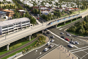 A level crossing at Toorak Road in the inner-Melbourne suburb of Kooyong will be removed using a rail bridge design solution, the Victorian Government's Level Crossing Removal Authority has said.