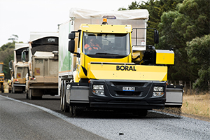 Australia's first forward-moving aggregate spreader