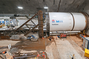 TBM launches under Sydney Harbour