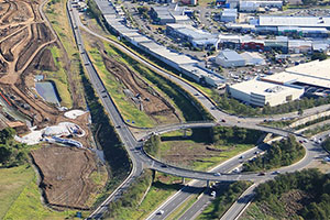 Princes Highway upgrade at Albion Park Rail bypass close to completion